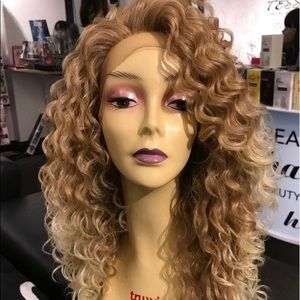Accessories - Blonde curly 27/613 Swisslace Lacefront New 2019